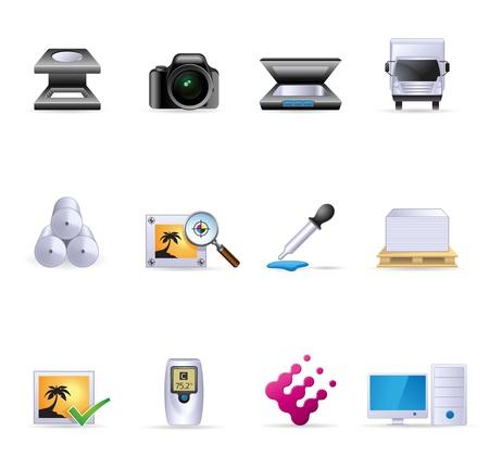 웹 아이콘 - 더 인쇄 그래픽 디자인