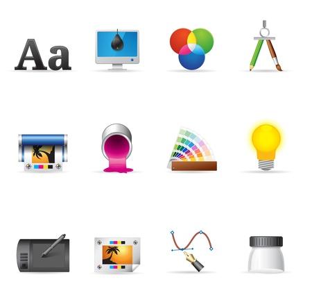 calibration: Icone Web Printing Graphic-Design Vettoriali