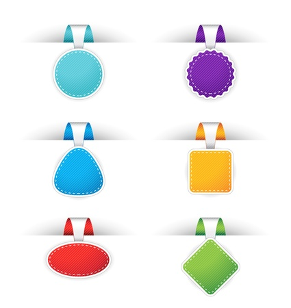 Website badges in different colors Vector