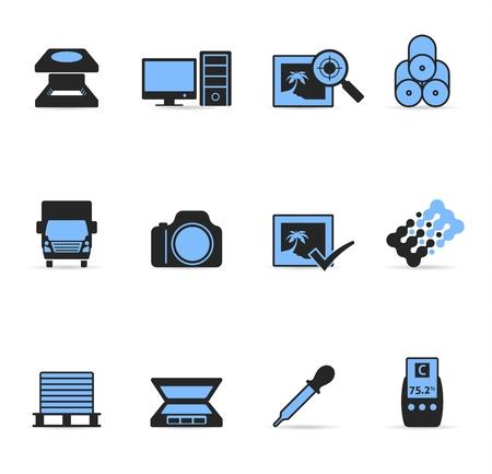 offsetdruck: Druck Grafik-Design-Symbol in Duplex Farben eingestellt