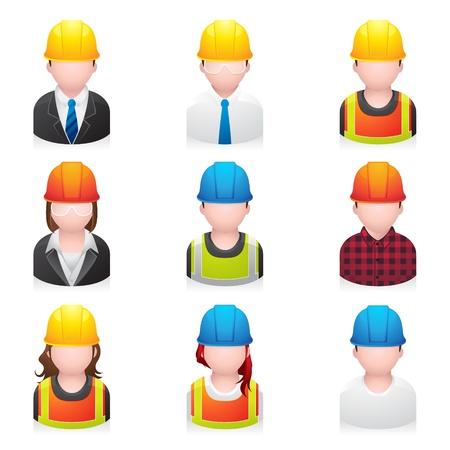 Construction des gens icône