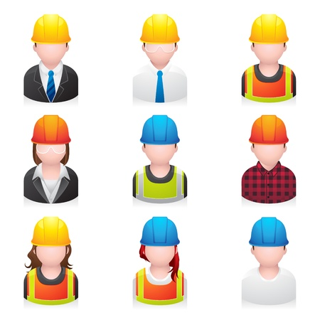 ingegneri: Costruzione persone icon Vettoriali