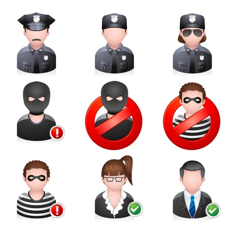 dieven: Beveiliging mensen icoon