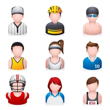 ropa deportiva: Deporte icono de la gente Vectores