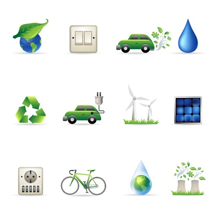 Environment  icon set Vector