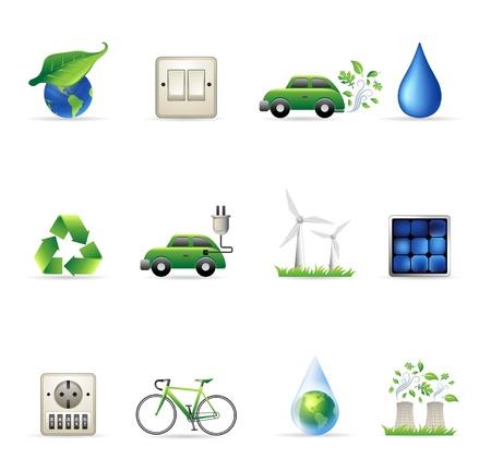 icono contaminacion: Medio Ambiente conjunto de iconos
