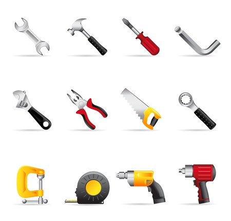Web Icons - Hand Tools Illustration