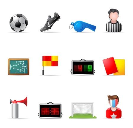 arbitri: Icons Web - Calcio Vettoriali