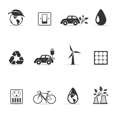 Environment  icon in single color   Stock Vector - 14494984