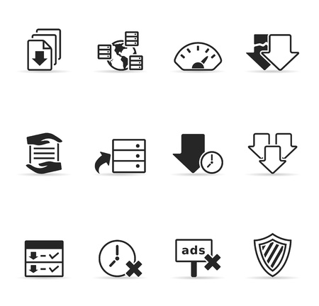 File sharing icon set Stock Vector - 14494986