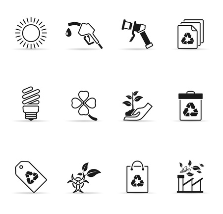 paperbag: Environment  icons in single color