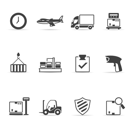 Logistic  icon set single color   Vector