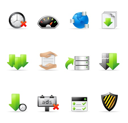 File sharing icon set    Vector