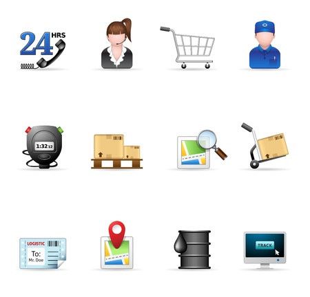 Logistic  icon set Stock Vector - 14495058