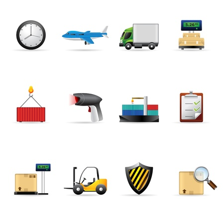 Logistic  icon set      Vector