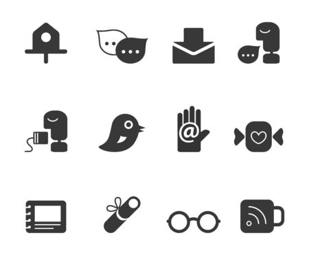 greyscale: Universal icons Illustration