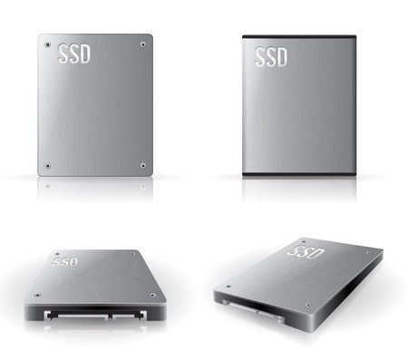 data storage device: SSD in various angle