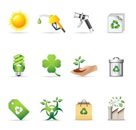 Environment  icon set   Stock Vector - 14495056