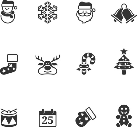 Christmas icon in single color Vector