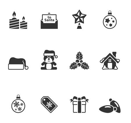 velas de navidad: Navidad icono en un solo color.