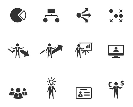 Business icon series in single color style.  Stock Illustratie