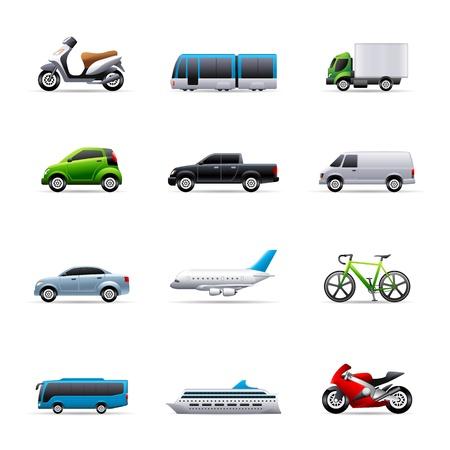 はしけ: 色で交通機関アイコン シリーズ。