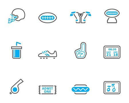 duo tone: American Football related icon series in duo tone color style.
