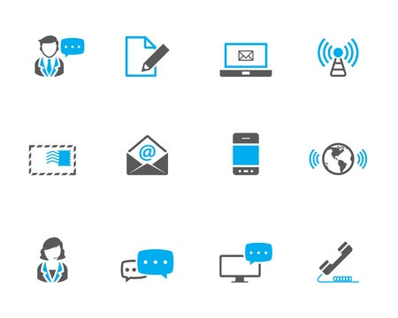 &quot,Communication icon series in duotone color. Vector