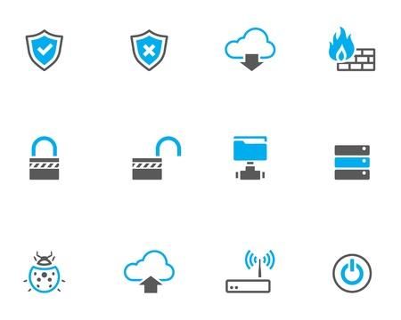 firewall: Computer-Netzwerk Symbol Serie im Duo Klangfarbe Stil.