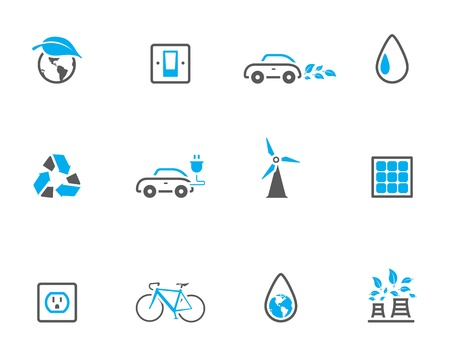 &quot,Environment  icon series in duotone color style. Vector