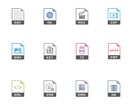 db: File format icon series in duotone color.