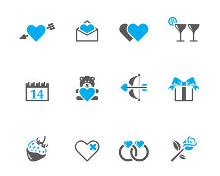 Valentine related items icon series in duotone colors. EPS 10. Stock Vector - 17233589