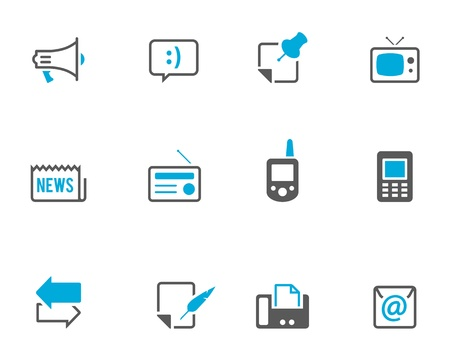 Communication icon series.  Vector