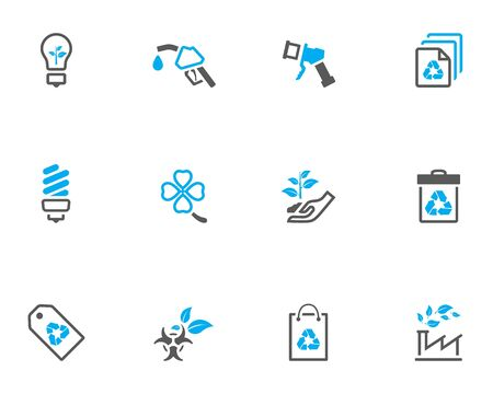 Environnement icône de la série dans le style duo timbre.