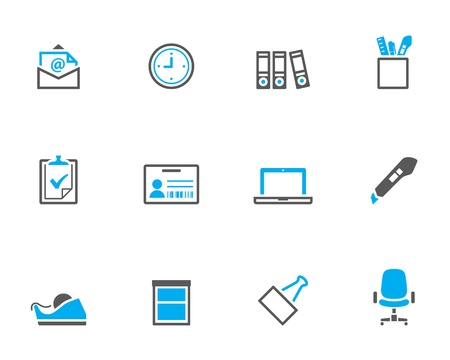 duo: Office icon series in duotone color style.