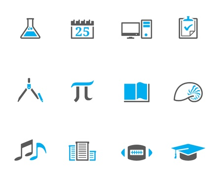 pi: More school icon series in duotone style. EPS 10.