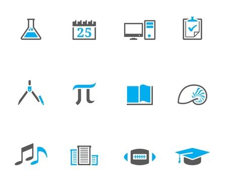 duotone: More school icon series in duotone style. EPS 10.