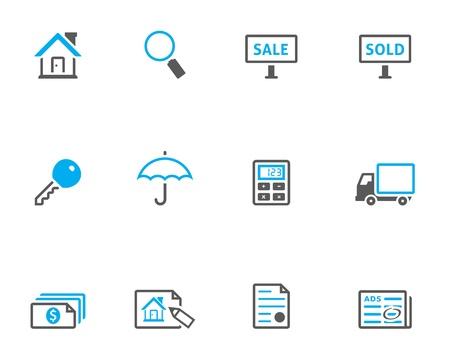 icone immobilier: V�ritable ic�ne de la s�rie succession dans le style duo timbre.