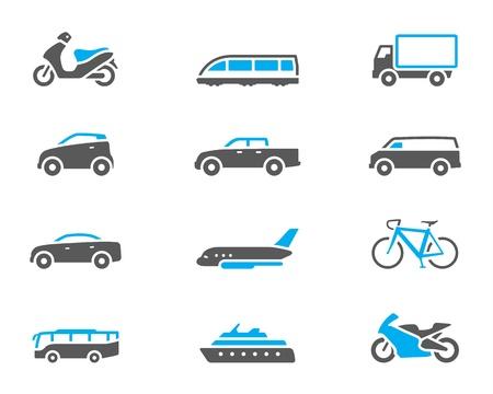 デュオ調子色スタイルで交通機関アイコン シリーズ。