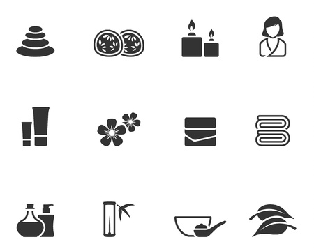 Spa related icon series in single color style. EPS 10. Vector