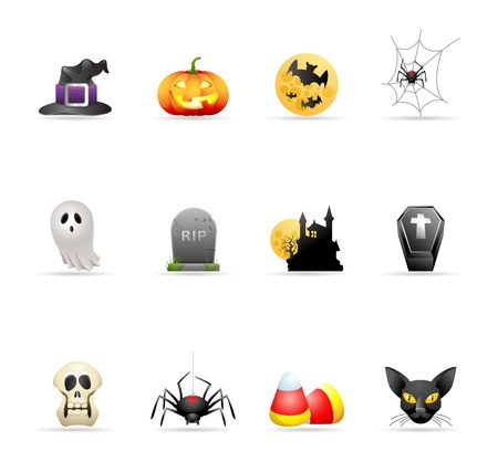 Halloween icon series in colors  Stock Vector - 19605540