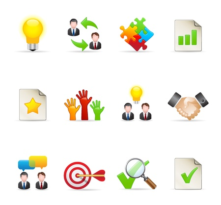 Management icon series  in colors