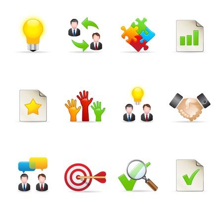 management qualit�: Gestion s�rie d'ic�nes en couleurs