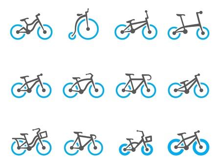 moto da cross: Tipo di bicicletta icone in colori tono duo