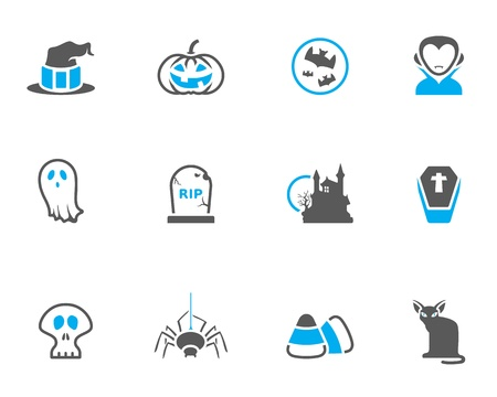 duo tone: Halloween icon series in duo tone colors Illustration
