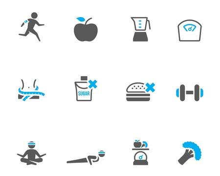 diabetes: Icono de la vida saludable en color bitono