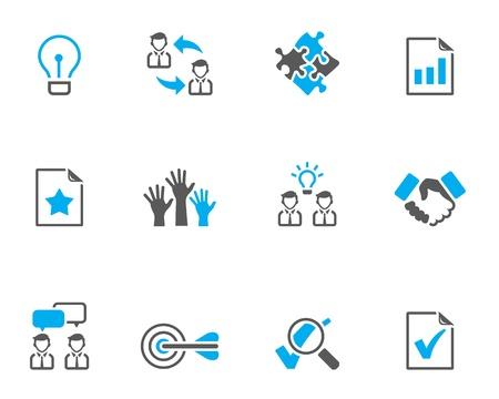 Management icon series  in duo tone colors Stock Illustratie