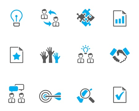 Management icon series  in duo tone colors Vector