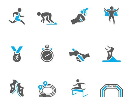 Run competition icon series  in duo tone colors