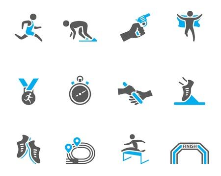 relay: Ejecutar la serie del icono competencia en colores de tono dúo
